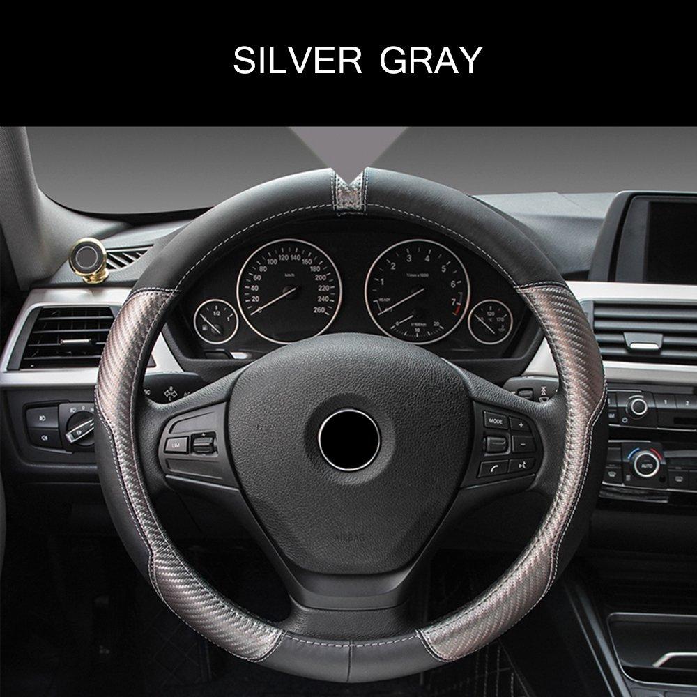 En cuir microfibre Antid/érapante Respirante et universelle Housse de volant ECLEAR Dimensions de 37 /à 39/cm Pour voiture Couleur Noire.
