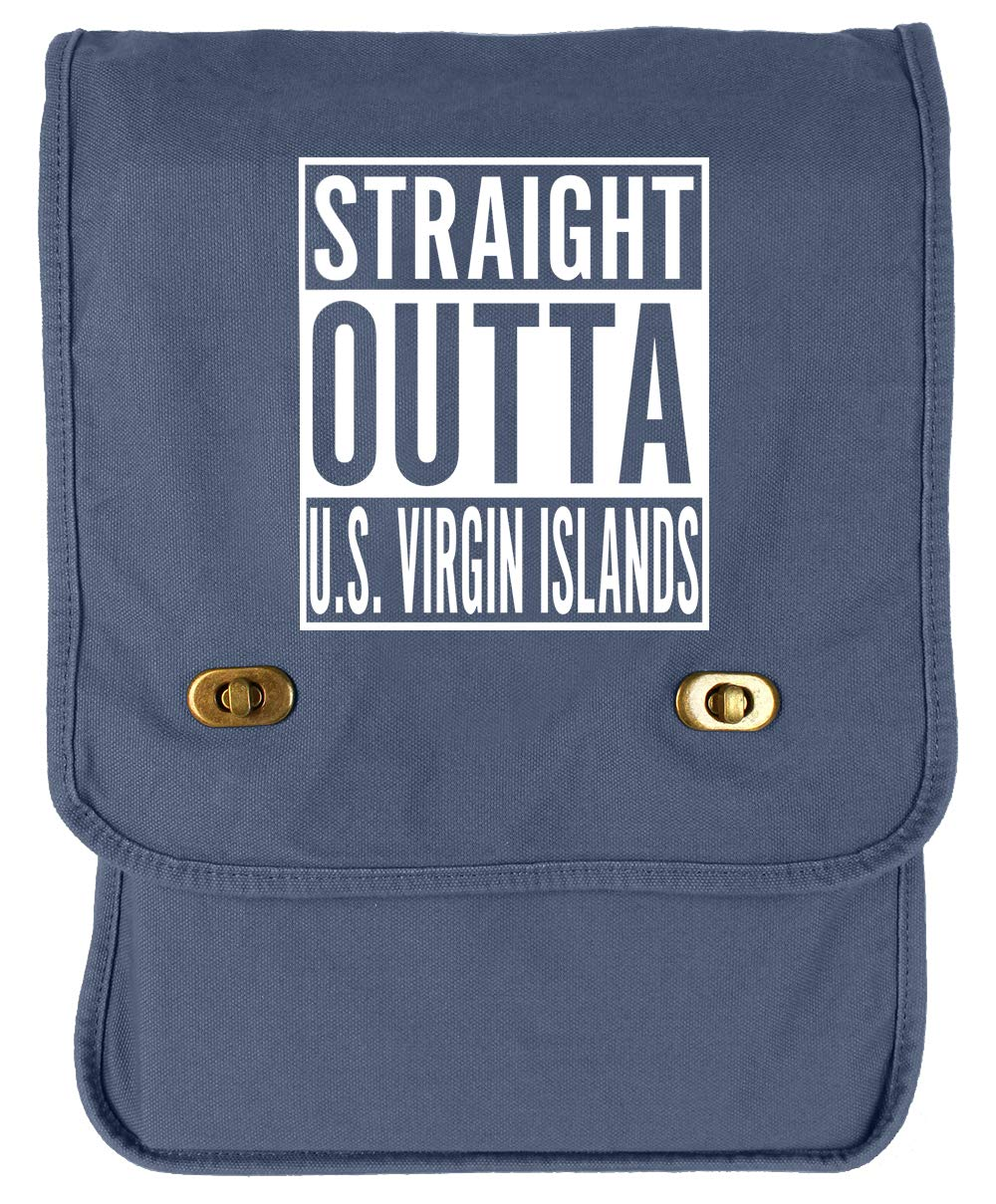Tenacitee Straight Outta U.S Virgin Islands Red Brushed Canvas Messenger Bag