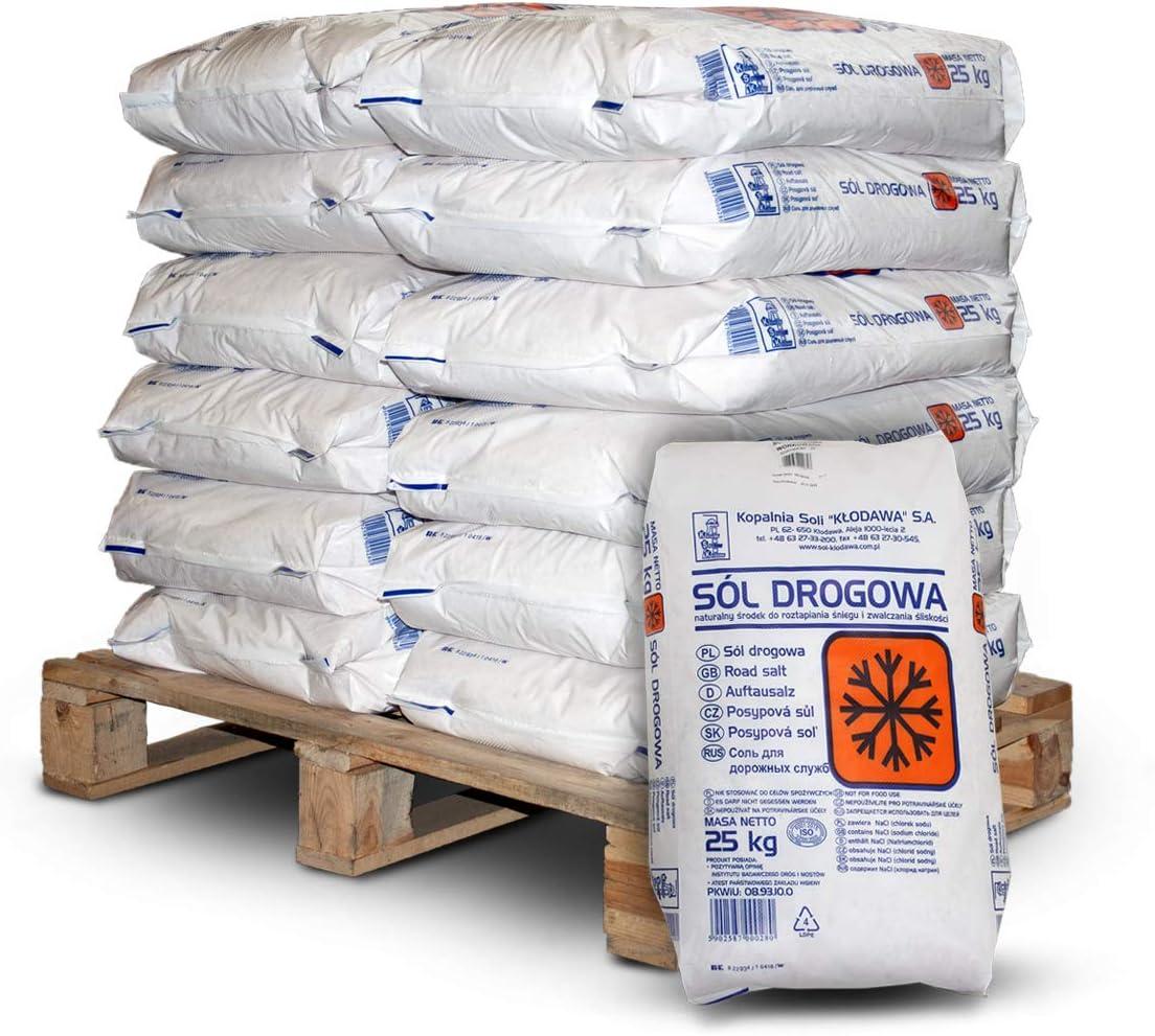 Streusalz Tausalz Räumsalz Steinsalz Salz Granulat 25kg x 12 Sack 300kg Palette