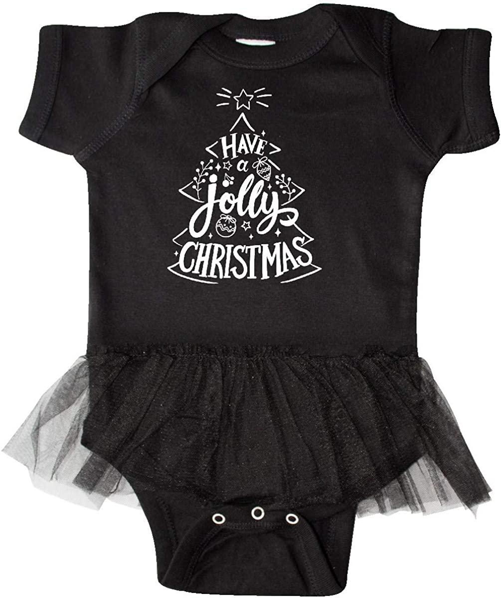 inktastic Have a Jolly Christmas with Tree in Hand Infant Tutu Bodysuit