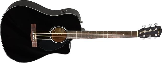Fender CD-60SCE Black Guitarra Acústica: Amazon.es: Electrónica