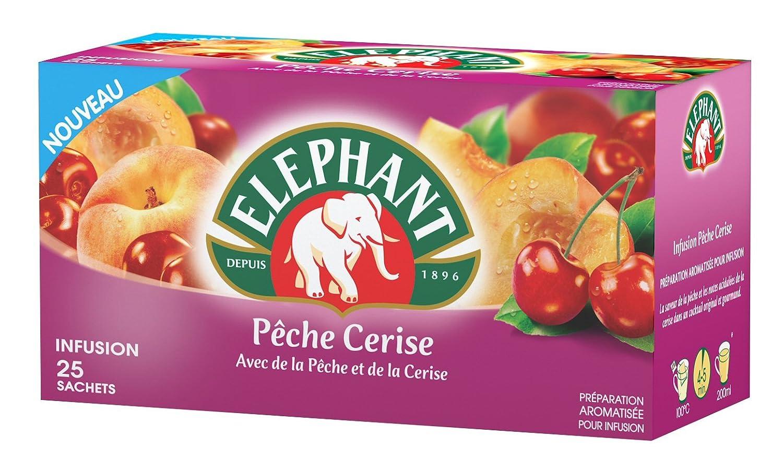 Elephant Infusión De La Pesca De La Cereza 25 50Glot Bolsas ...