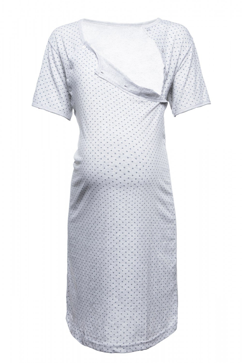 Happy Mama Women's Maternity Hospital Gown Nightie Polka Dot Breastfeeding. 115p pregnight_115
