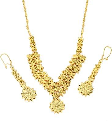 African Jewelry Set 24 K Gold Äthiopische Indien Dubai gold
