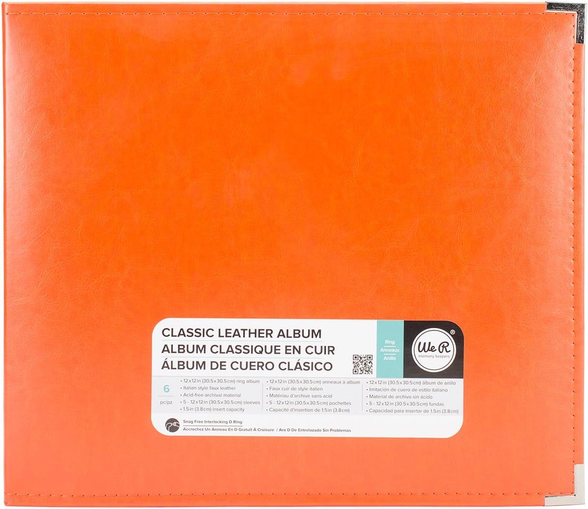 Orange Soda 12 x 12 American Crafts 660907 We R Memory Keepers Classic D-Ring Scrapbooking Album