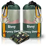 JYSW Emergency Bivy Sack, Survival Sleeping Bag Emergency Blanket Lightweight and Compact Survival Gear for Outdoor,Hiking,Ca
