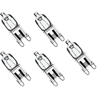 Triangle Bulbs T10077-5 (5 pack) - Q40/G9/CL/120V, 40 Watt, T4 JD Type, 120 Volt, Clear, G9 Bi-pin Base, Halogen Light Bulb, 5 Pack