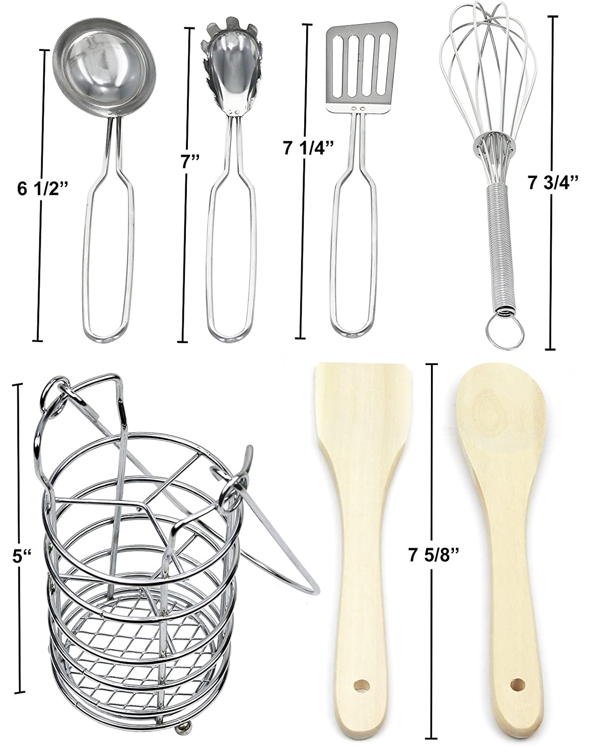 Click N Play 7 Piece Kitchen Cooking Utensils Play Set In Holder CNP1868