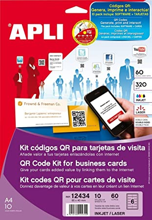 Agipa Qr Code Visitenkarten Set 85 X 40 Mm 320 G Qm