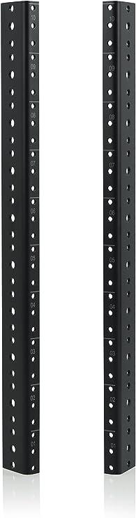 Gator Rackworks Heavy Duty Steel Rack Rail Set; 8U Rack Size GRW-RACKRAIL-08U