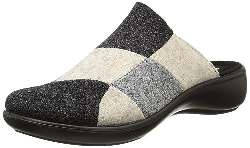 Romika Ibiza Home 305, Zuecos para Mujer, Gris (Grau-Kombi 704), 35 EU: Amazon.es: Zapatos y complementos