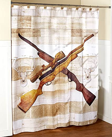 Amazon The Lakeside Collection Born To Hunt Shower Curtain