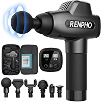 RENPHO Massage Gun, Muscle Massager, Powerful Percussion Massager Handheld with Portable Case for Athletes, Back Neck…