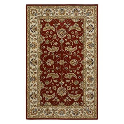 Surya Caesar 4 X 4 Square Hand Tufted Wool Rug In Red