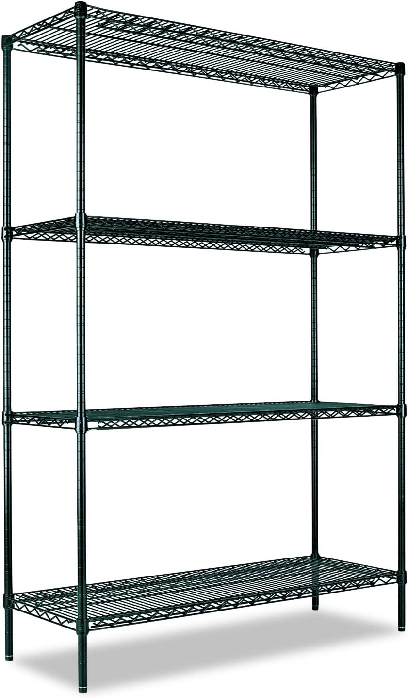Alera Wire Shelving Unit Silver 36w x 14d x 54h 1000 lb Capacity Four-Shelf