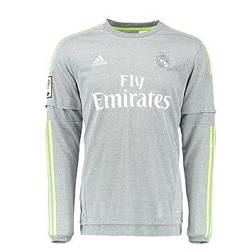 Adidas Camiseta 2da Real Madrid De Manga Larga Juventud 2015-2016 (YS): Amazon.es: Deportes y aire libre
