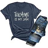 Womens Teacher Shirt Teachers Day Graphic Short Sleeve Tee Inspirational Casual Blouse Tops