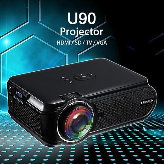 Mini Proyector, Uhappy 2017 Más Nuevo U90 LED Video Home Cinema ...