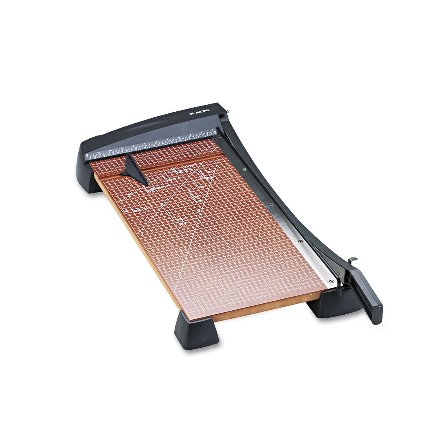 X-ACTO 26364 Heavy-Duty Wood Base Guillotine Trimmer, 15 Sheets, 12-Inch x 24-Inch