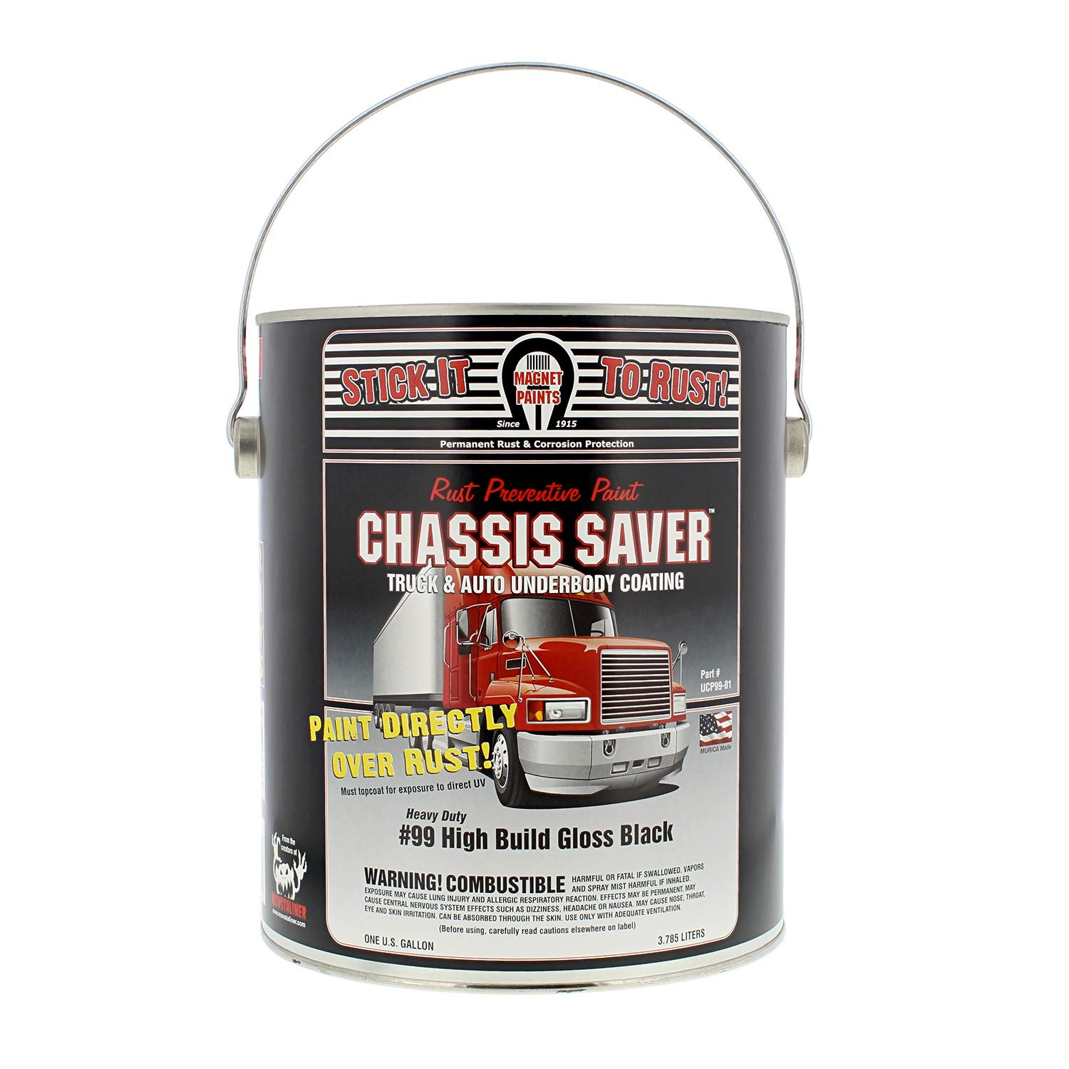 Magnet Paint Co Chassis Saver - Gloss Black - MPC-UCP99-01 (Gallon) by Magnet Paint (Image #1)