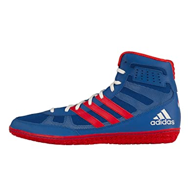 54e9703f adidas Mat Wizard 3 David Taylor Edition Wrestling Shoes - Royal/Red/White -