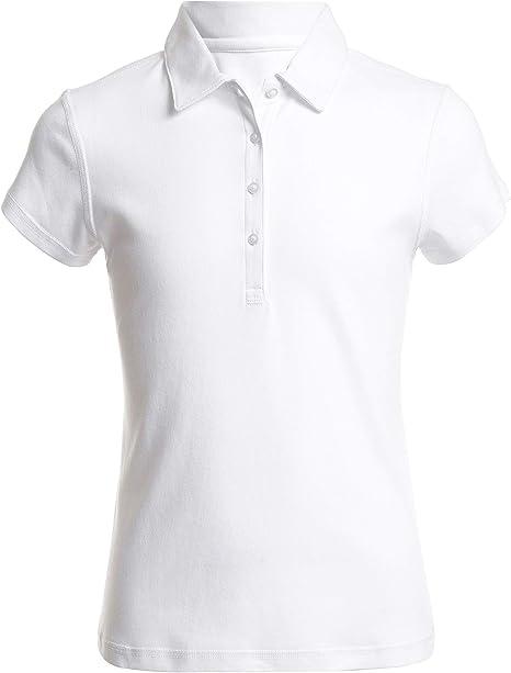 Nautica Girls School Uniform Sensory Friendly Short Sleeve Polo Polo Shirt Amazon Ca Clothing Accessories
