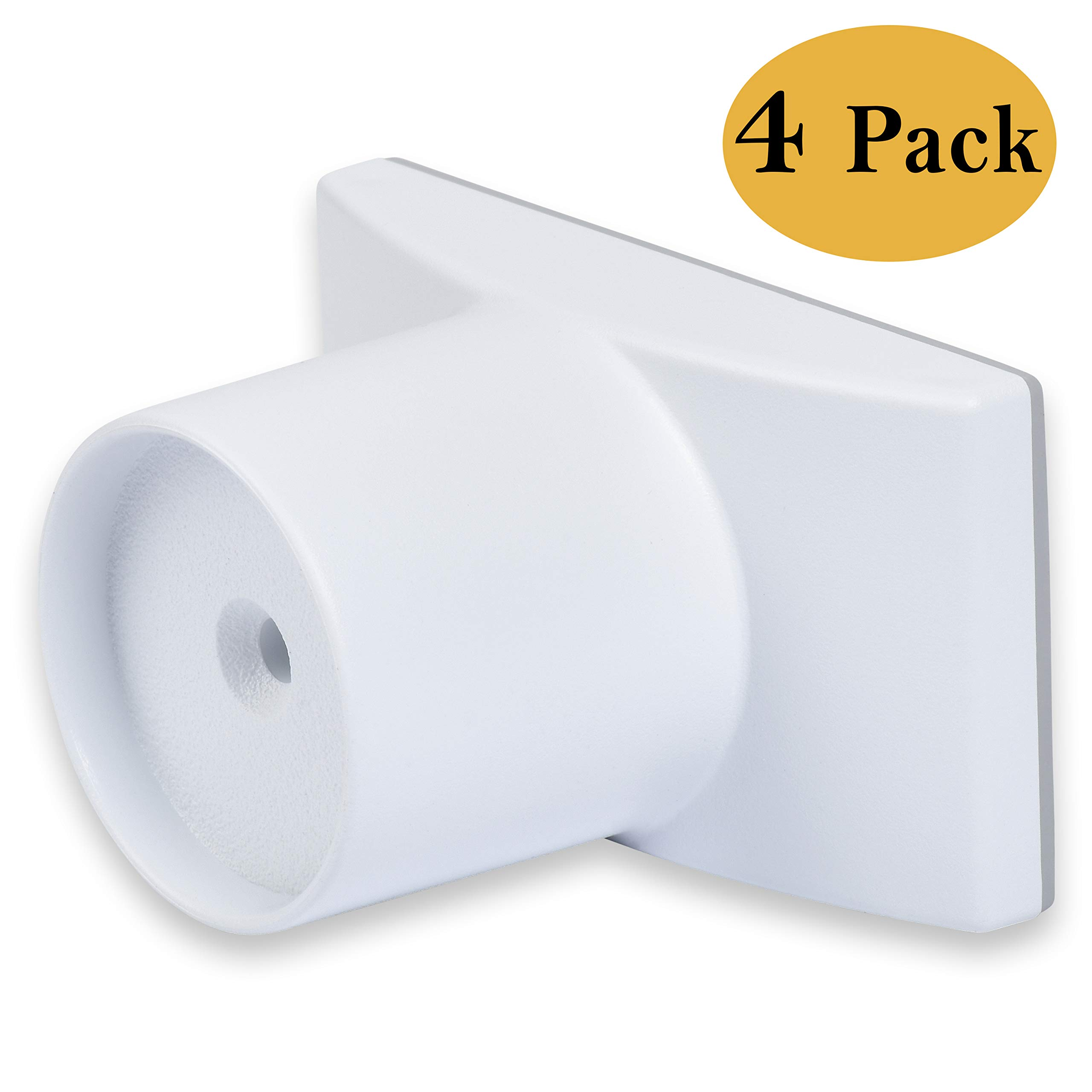 Wall Nanny Extender - 4 Inch Baby Gate Extension (Made in USA) Extends Pressure Mounted Gates + Protects Walls + Stabilizes Gate - for Child, Pet & Dog Gates - Works on Stairs - 4 Pack Wall Protector by Wall Nanny