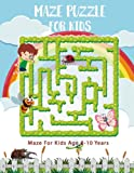 "Maze Puzzle For Kids Age 8-10 Years: Funny Maze Puzzle Game Book, Big Book Of Mazes for Kids, Amazing Maze Large Print 8.5""x11"", (Activity Book for Kids) (Volume 1)"