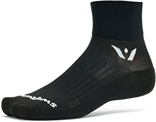 product image for Swiftwick- ASPIRE TWO Running & Cycling Socks, Lightweight, Compression Fit