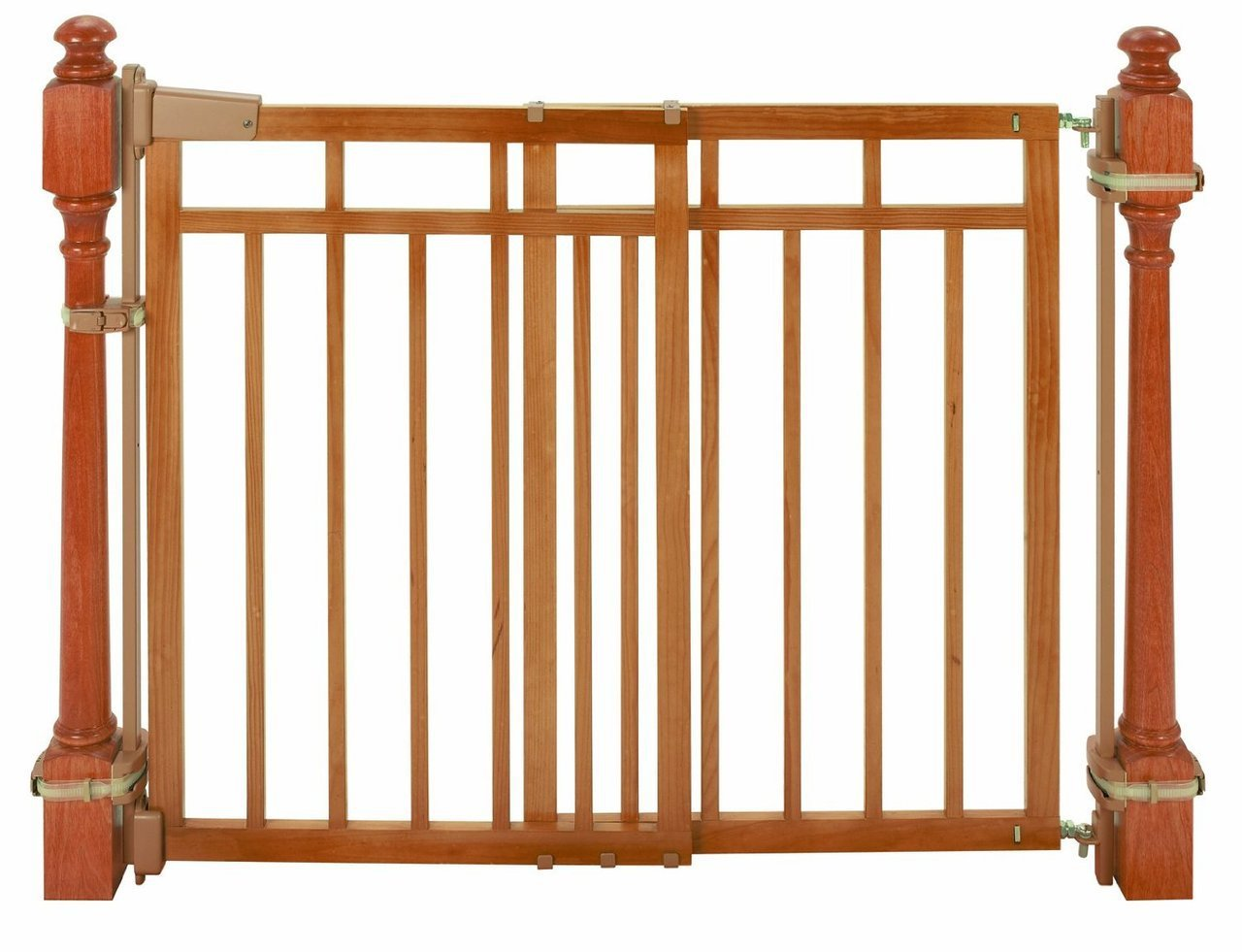 Amazon.com : Summer Infant Stylishu0026secure® Deluxe Top Of Stairs Gate With  Dual Banister Kit : Indoor Safety Gates : Baby