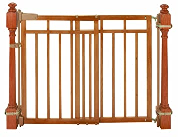Summer Infant Stylishu0026secure® Deluxe Top Of Stairs Gate With Dual Banister  Kit