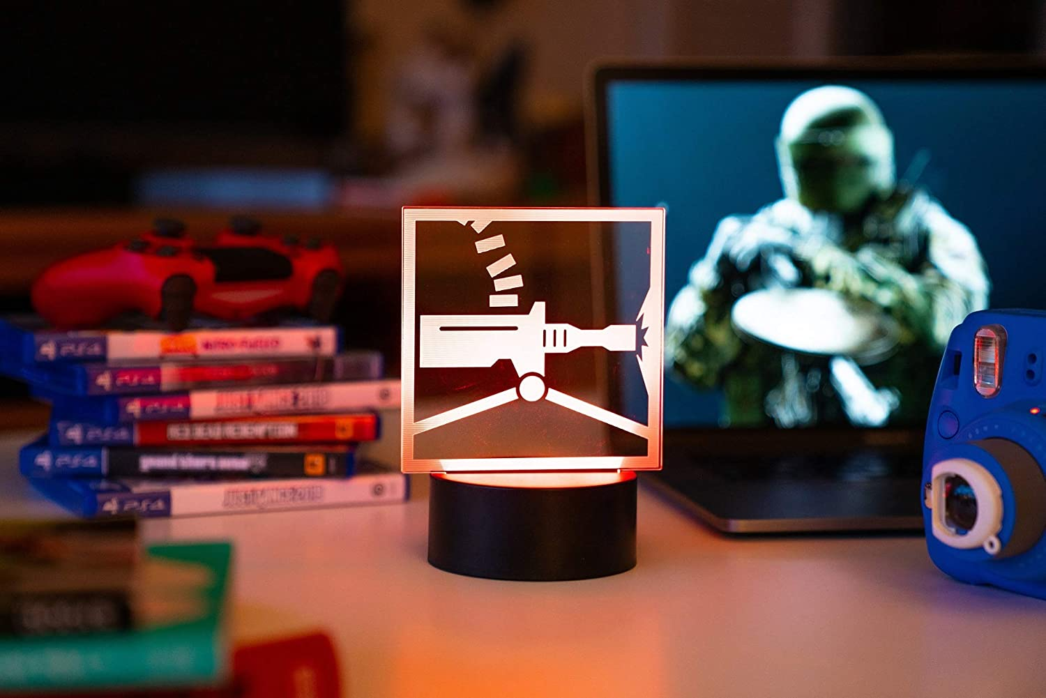 Six Siege LED Lamp - Tachanka Operator - Rainbow Six Siege Decor for The Bedroom or Gaming Studio - Color Changing LED Nightlight Great for Cosplay Photoshoots with Any R6 Character