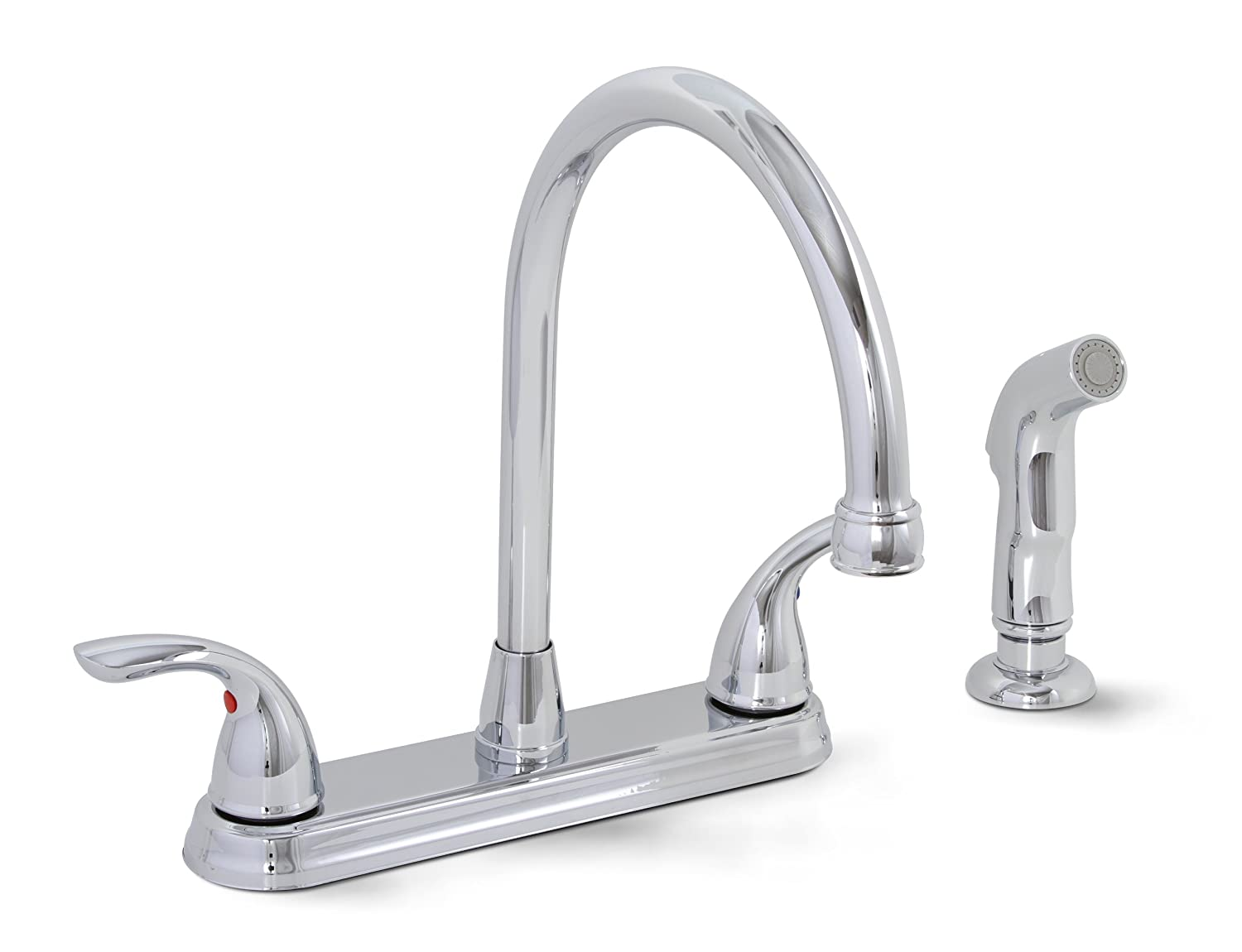 PREMIER GIDDS-120447LF Westlake Kitchen Faucet with Two Handles and Side Spray, Chrome, Lead Free