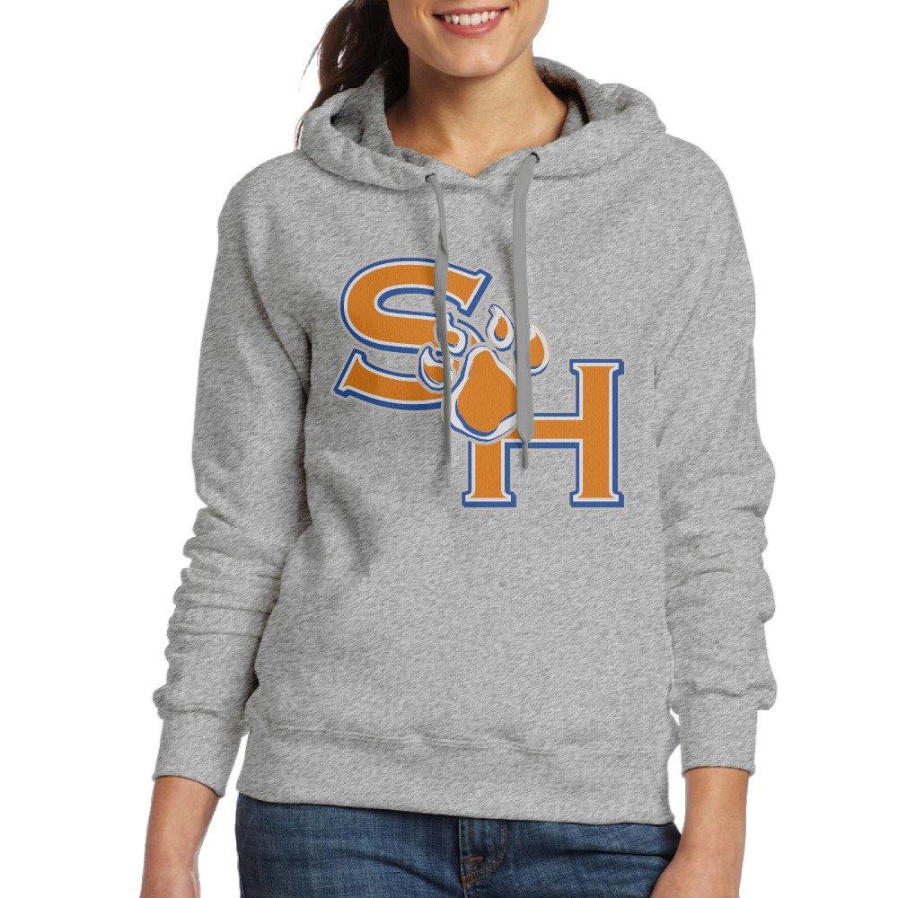 LOYRA Women's Sam Houston State University Hooded Sweatshirt Ash