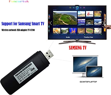 Adaptador Wi-Fi inalámbrico USB para televisión, Fancartuk 802.11ac de doble banda 2,4 GHz y 5 GHz, adaptador USB de red WiFi inalámbrico para smart TV Samsung WIS12ABGNX WIS09ABGN 300M: Amazon.es: Informática