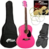 Jasmin Complete Pink Acoustic Guitar Pack With Accessories