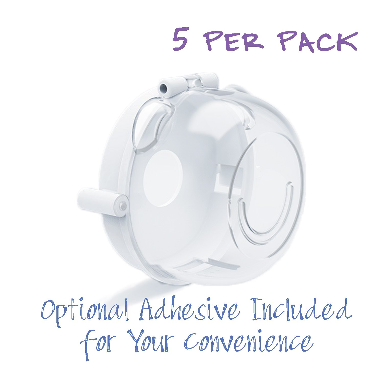 Child Safety Oven & Gas Stove Knob Covers [5 Pack/Clear] | Adhesive Tape for Stabilizing | Measure to Fit | Avoid Kitchen Accidents | Pet & Baby Proof Lock/Caps for Gas Range/Burner Knob | Easy Set-up