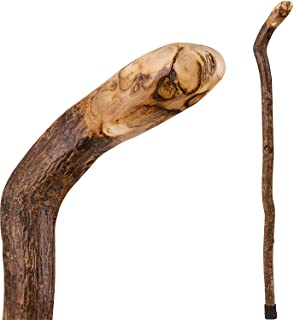 product image for Brazos Walking Cane for Men and Women Handcrafted of Lightweight Wood and made in the USA, Knob Root, 40 Inches