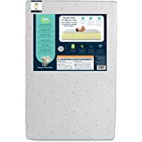 Serta Perfect Rest 4-inch Premium Recycled Fiber Core Mini Crib Mattress, Waterproof, Hypoallergenic, GREENGUARD Gold…