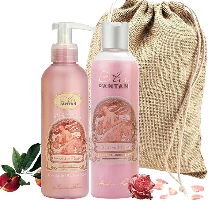 Un Air dAntan Caja Regalo Belleza Rose Mujer,1 Gel de Ducha ...