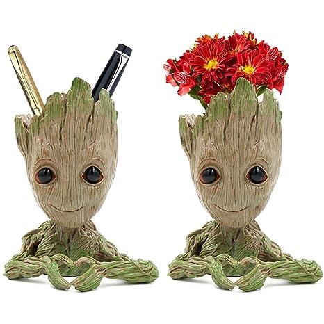 Dighealth Groot Figurine Baby Groot Pot De Fleur Pot A Fleurs Ou A