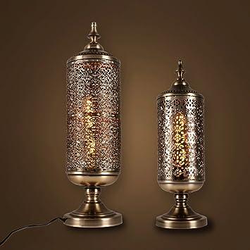 Schon ZYN Eisen Kunst Geschnitzten Hohlen Tischlampe Vintage Nachttischlampe Industriellen  Stil Wohnzimmer Schlafzimmer Tischlampe (größe :