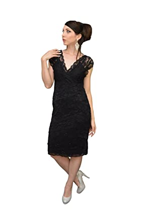 The Dress Outlet Short Vintage Lace Mother of the Bride Plus Size ...
