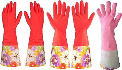Treenewbid Kitchen Rubber Cleaning Gloves
