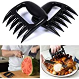 BBQ Meat Claws, Barbecue Paw Handlers Pulled Pork Shredder, Heat Resistant (2 Pcs, BPA Free, Black)