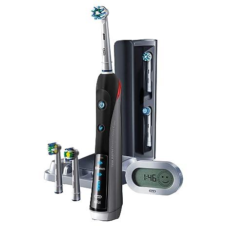 Oral-B PRO 7000 - CrossAction Smart Series Cepillo de Dientes Eléctrico Recargable con Conectividad Bluetooth y Tecnología Braun, Edición Black