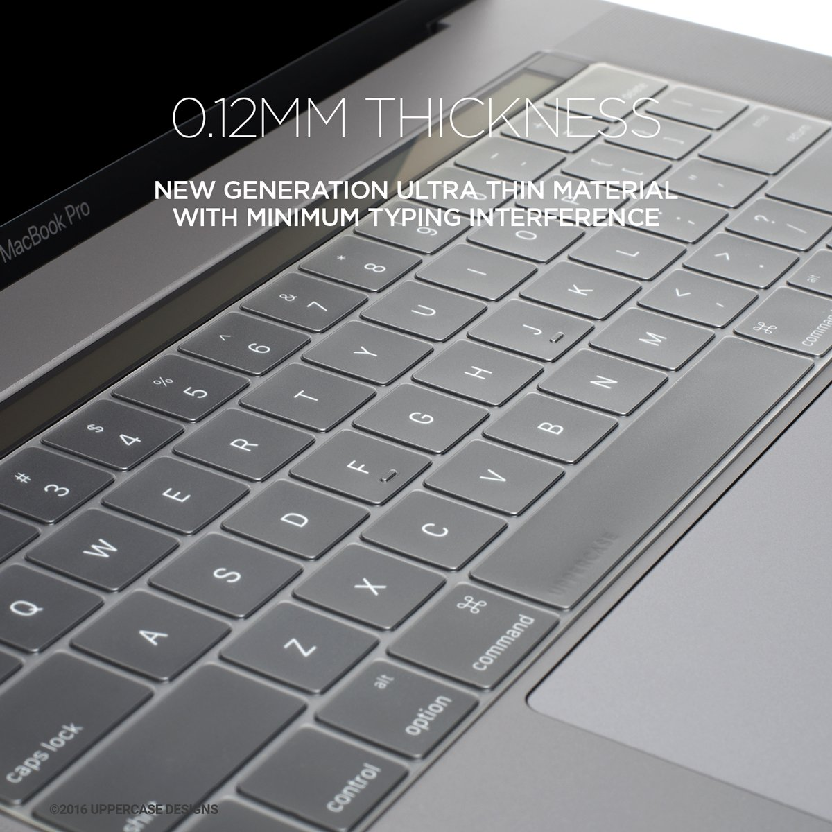 uppercase premium thin keyboard protector 2016 macbook pro 13 15 a1706 a1707 ebay. Black Bedroom Furniture Sets. Home Design Ideas