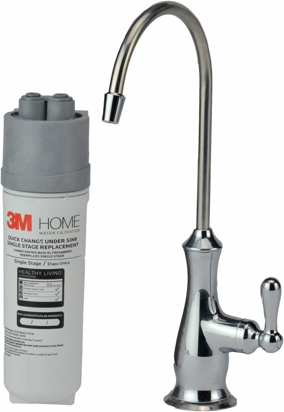 3M 4US-MAXS-S01H Quick Change Single Stage Drinking Water Filter System