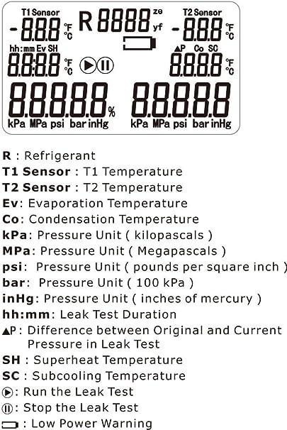 DLG DI-517 AC Manifold Digital Manifold Gauge Refrigeration System HVAC