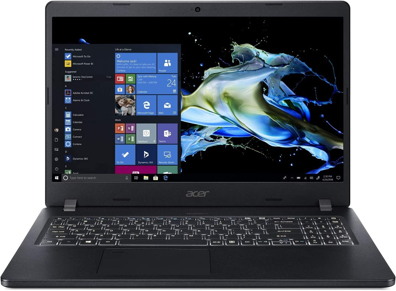"Acer TravelMate P2 Business Laptop, 15.6"" FHD IPS, Intel Core i5-8250U, 8GB DDR4, 256GB SSD, 9.5 Hrs Battery, Win 10 Pro, TPM 2.0, Mil-Spec, Fingerprint Reader, TMP215-51-51RB"